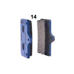 Pastilla freno delantera azul V10-Mini