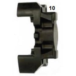 Mitad pinza freno trasera V09/V10 30 Izq.