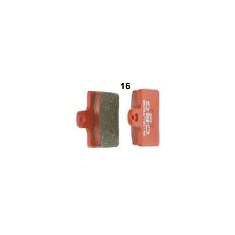 Pastilla de freno delantera roja V05