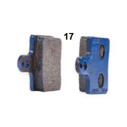 Pastilla de freno delantera azul V05-V09