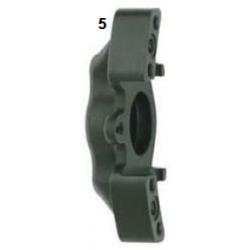 Mitad pinza de freno delantera UP/V05 derecha negra