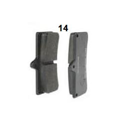 Pastilla freno delantera V04/V06 estandar