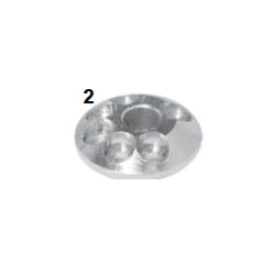 Caster esferico 6 agujeros derecha