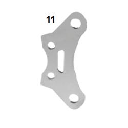 Placa pinza freno V06 cromada