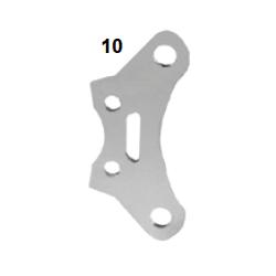 Placa soporte pinza freno V10 cromada