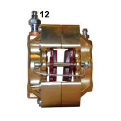 Pinza freno delantera UP/V05 hierro Izq. Oro