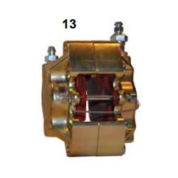 Pinza freno delantera UP/V05 hierro Der. Oro
