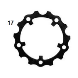 Brida disco freno NA 4mm negra