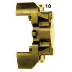 Mitad pinza freno trasera V09/V10 30 Izq. Oro