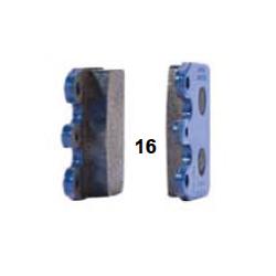 Pastilla freno trasera V05-09 azul