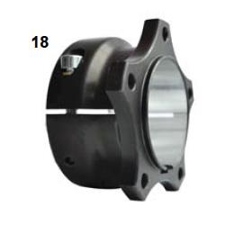 Portadiscos trasero V04 50 aluminio completo