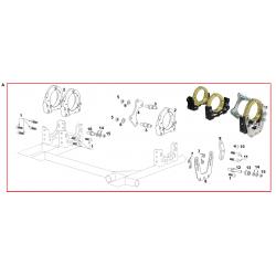 Kit de bridas ajuste eje / Portarodamientos