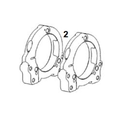 Bridas ajuste eje 50 / Portarodamientos