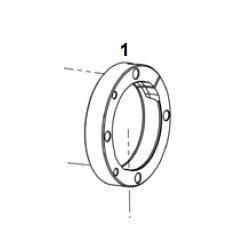 Brida eje 50 4H hibrida completa / Portarodamientos