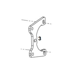 Placa pinza freno trasera V05 DD2 EVO