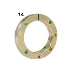 Brida eje 50-80 M8 hibrido magnesio / Portarodamientos