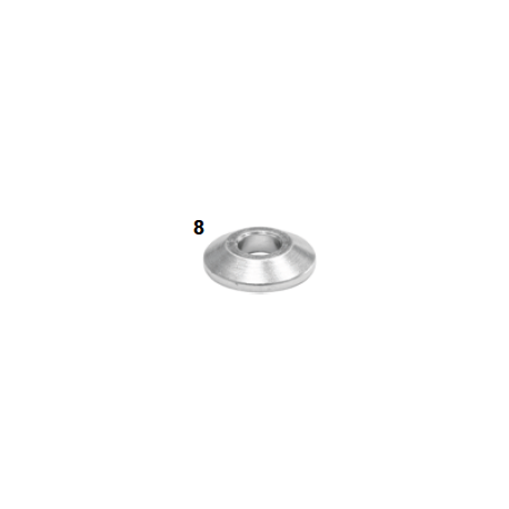 Espaciador caster plano 10-28x6