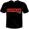 Camiseta negra y naranja XS-XXXL